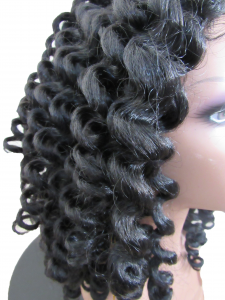 Lace front curly wig