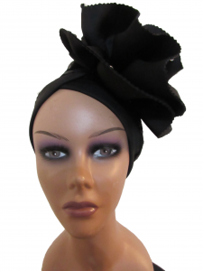 Turban/Fascinator Black