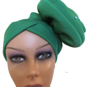 Turban fascinator green